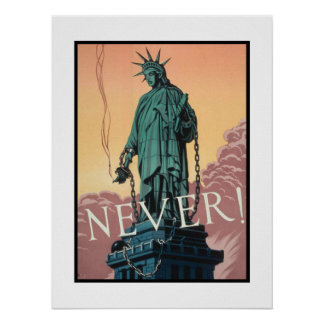 Poster com propaganda americana de WWII
