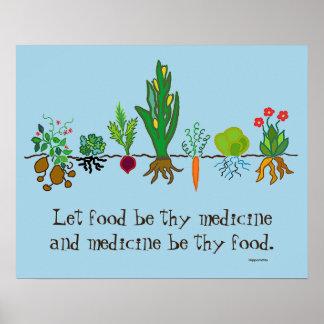 Pôster comida como a medicina
