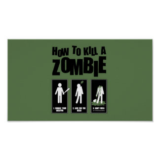 Poster Como matar um zombi
