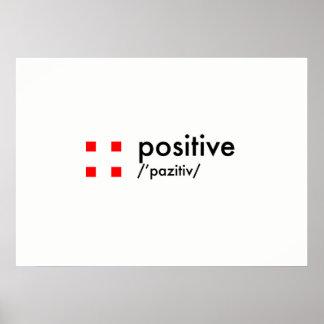 Poster conceito positivo