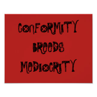 Pôster Conformidade