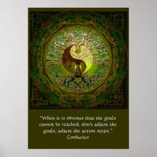 Pôster Confucius - quando os objetivos não puderem ser