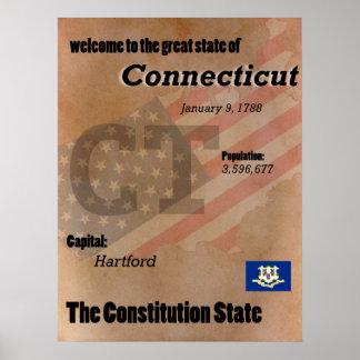 Poster Connecticut o clássico do estado da constituição