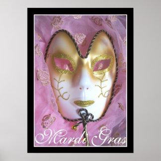 Poster cor-de-rosa do carnaval
