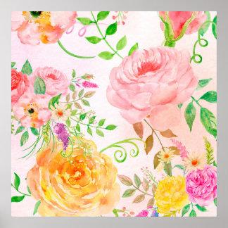 Poster cor-de-rosa do rosa e do pêssego da pôster