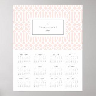 Pôster Cora o calendário anual da treliça 16x20 2017
