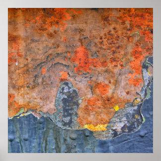 Poster Cores da oxidação 065, Oxidação-Arte