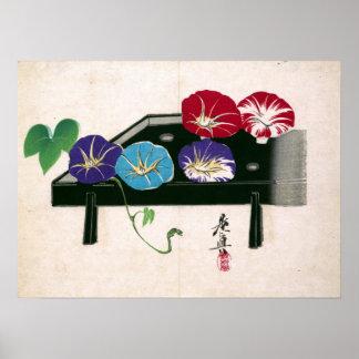 Poster Corriolas de Shibata Zeshin