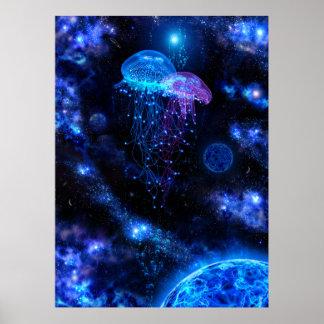 Poster cósmico das medusa