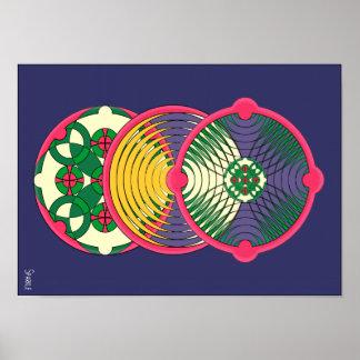 Poster cósmico do vertical de O Pôster