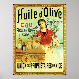 Pôster Cozinhar do vintage do azeite do Velho Mundo