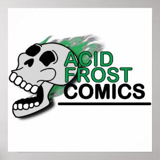 """Pôster Crânio ácido 16"""" da história em quadrinhos de"""