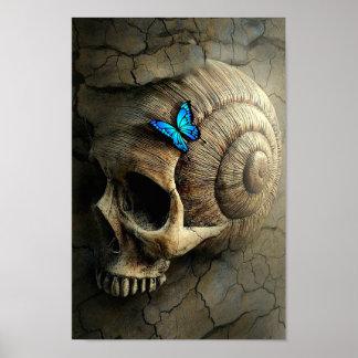 Pôster Crânio e borboleta