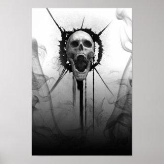 Poster Crânio gritando de Darkness_Poster