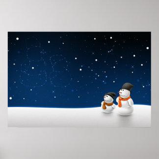 Pôster Criança da neve do homem da neve