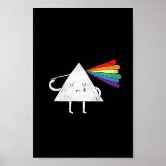 poster criativo bonito de prisma