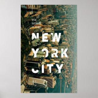 Poster criativo da Nova Iorque