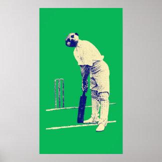 poster cricketing do meerkat do vintage