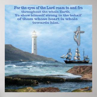Poster cristão da escritura