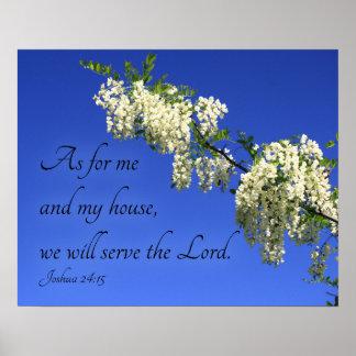 """Poster cristão """"nós serviremos flores do senhor"""""""