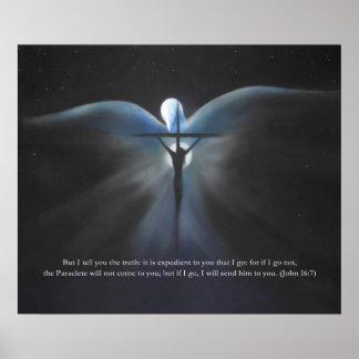 Pôster Crucificação, com o Espírito Santo, com escritura
