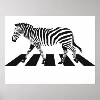 Pôster Cruzamento de zebra