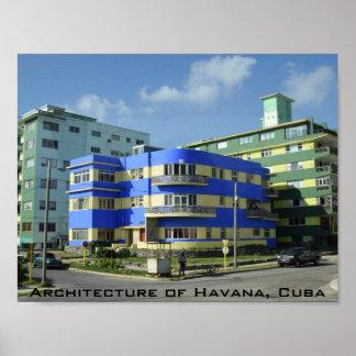 Poster Cuba: Arquitetura do art deco