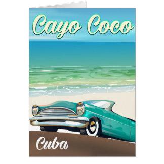 Poster cubano das férias dos Cocos de Cayo Cartão