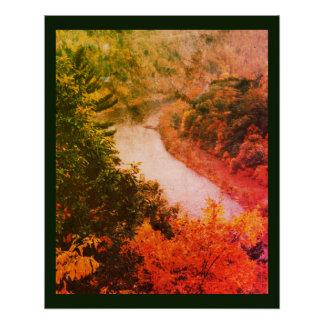 Pôster Curvatura do rio