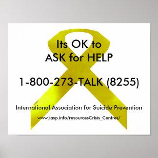 Poster da ajuda da consciência do suicídio