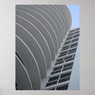 Poster da arquitetura de Miami
