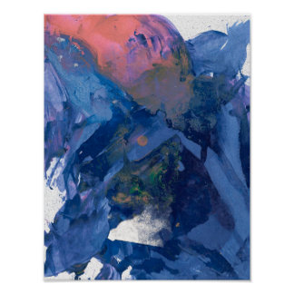 Poster da arte abstracta - roxo cor-de-rosa azul