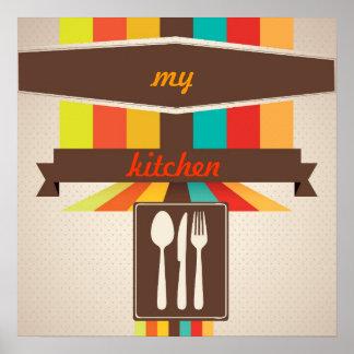 poster da arte da cozinha pôster