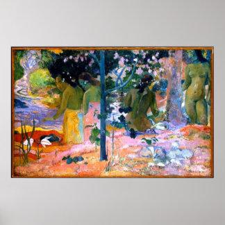 poster da arte da pintura de Paul Gauguin dos