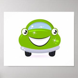 Poster da arte da sala dos miúdos: Auto feliz Pôster