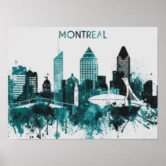 Poster da arte da skyline de Montreal