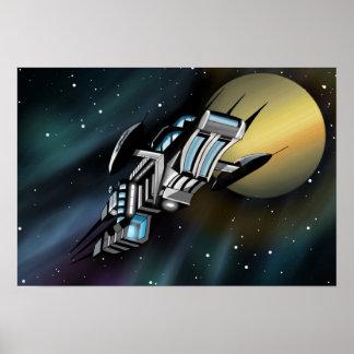 Poster da arte de Starship do Scifi