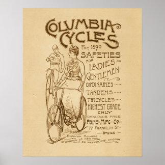 Poster da arte do anúncio das bicicletas de