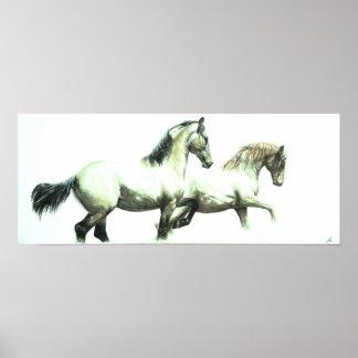 """Poster da arte do cavalo da """"perfeição"""" -"""