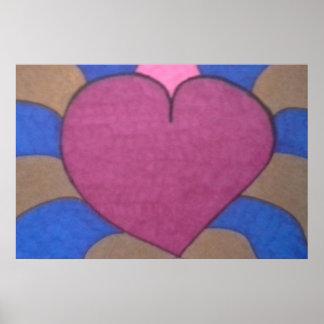 Poster da arte do coração de sangramento