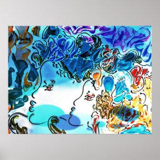 Poster da arte do jazz de Orleans do perfil das