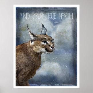 Poster da arte do lince do norte verdadeiro