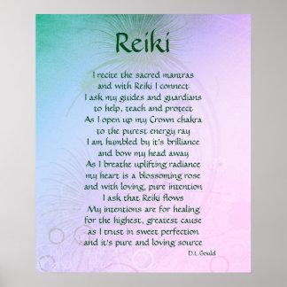 """Poster da arte do poema de """"Reiki"""""""