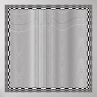 Poster da arte Op de formulário de onda