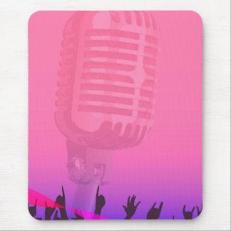 Poster da audiência da noite do karaoke mouse pad