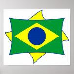 Poster da bandeira de Brasil