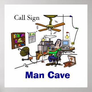 Poster da barraca da caverna do homem do