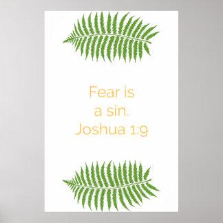 Poster da bíblia, citações do 1:9 de Joshua