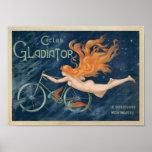 Poster da bicicleta do gladiador