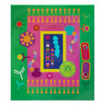 Poster da biologia - estilo de Matisse